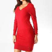 /achat-robes/kaporal-robe-pull-col-v-femme-xerah-rouge-190826.html