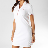 /achat-robes/kaporal-robe-polo-manches-courtes-femme-xirish-blanc-rouge-190829.html