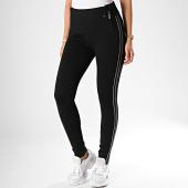 /achat-pantalons-carreaux/kaporal-pantalon-femme-a-bandes-xoruh-noir-argente-190830.html