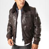 /achat-vestes-cuir/redskins-veste-cuir-col-mouton-rafal-ycon-noir-190780.html