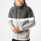 /achat-sweats-zippes-capuche/teddy-smith-sweat-zippe-capuche-a-bandes-dy-gris-chine-girs-anthracite-chine-190742.html