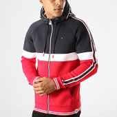 /achat-sweats-zippes-capuche/teddy-smith-sweat-zippe-capuche-a-bandes-dy-bleu-marine-rouge-190744.html