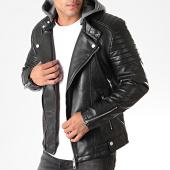 /achat-vestes-biker/terance-kole-veste-biker-capuche-79716-noir-gris-chine-190854.html
