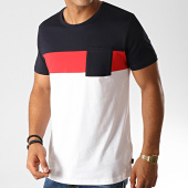 /achat-t-shirts-poche/esprit-tee-shirt-poche-089cc2k001-blanc-rouge-noir-190956.html