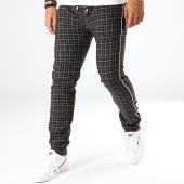 /achat-pantalons-carreaux/mtx-pantalon-a-carreaux-avec-bandes-5292-noir-191040.html