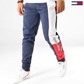 /achat-pantalons-joggings/tommy-hilfiger-jeans-pantalon-jogging-graphic-flag-fleece-0205-bleu-marine-blanc-191044.html