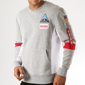 /achat-sweats-col-rond-crewneck/alpha-industries-sweat-crewneck-nasa-space-camp-198302-gris-chine-191245.html