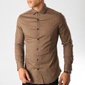 /achat-chemises-manches-longues/mtx-chemise-manches-longues-s7350-marron-191089.html