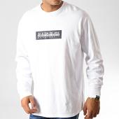 /achat-t-shirts-manches-longues/napapijri-tee-shirt-manches-longues-sox-np000kbr-blanc-191098.html