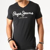 /achat-t-shirts/pepe-jeans-tee-shirt-col-v-original-noir-191143.html
