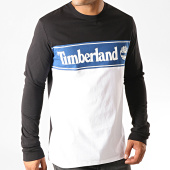 /achat-t-shirts-manches-longues/timberland-tee-shirt-manches-longues-cut-and-sew-a1z24-noir-blanc-191284.html