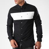 /achat-chemises-manches-longues/calvin-klein-jeans-chemise-manches-longues-chest-colour-block-3927-noir-blanc-191493.html
