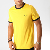 /achat-t-shirts/fred-perry-tee-shirt-ringer-m3519-jaune-bleu-marine-191350.html