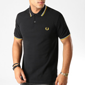/achat-polos-manches-courtes/fred-perry-polo-manches-courtes-twin-tipped-m3600-noir-blanc-jaune-191380.html