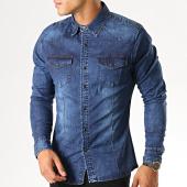 /achat-chemises-manches-longues/frilivin-chemise-jean-manches-longues-ca-616-bleu-denim-191286.html