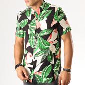 /achat-chemises-manches-courtes/frilivin-chemise-manches-courtes-bm1043x-noir-vert-floral-191330.html
