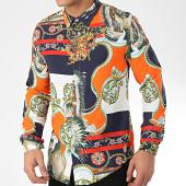 /achat-chemises-manches-longues/frilivin-chemise-manches-longues-renaissance-682815-bleu-marine-jaune-orange-191368.html