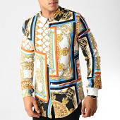 /achat-chemises-manches-longues/frilivin-chemise-manches-longues-renaissance-682816-blanc-bleu-jaune-191374.html