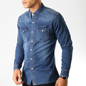 /achat-chemises-manches-longues/frilivin-chemise-jean-manches-longues-ca-615-bleu-denim-191377.html