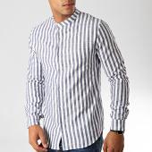/achat-chemises-manches-longues/frilivin-chemise-manches-longues-657552-blanc-bleu-marine-191430.html