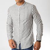 /achat-chemises-manches-longues/frilivin-chemise-manches-longues-657551-blanc-noir-191432.html