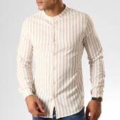 /achat-chemises-manches-longues/frilivin-chemise-manches-longues-657553-blanc-beige-191433.html