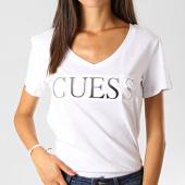 /achat-t-shirts/guess-tee-shirt-col-v-femme-w94i62-k7dn0-blanc-argente-191400.html