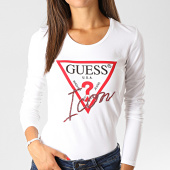 /achat-t-shirts-manches-longues/guess-tee-shirt-manches-longues-femme-w94i88-k7de0-blanc-191402.html
