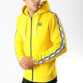 /achat-sweats-zippes-capuche/sergio-tacchini-sweat-zippe-capuche-a-bandes-dennet-38317-jaune-191507.html
