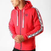 /achat-sweats-zippes-capuche/sergio-tacchini-sweat-zippe-capuche-a-bandes-dennet-38317-rouge-191510.html
