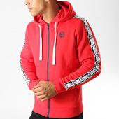 /achat-sweats-zippes-capuche/sergio-tacchini-sweat-zippe-capuche-a-bandes-dennet-38317-rouge-191510.html