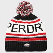 /achat-bonnets/superdry-bonnet-logo-bleu-marine-blanc-191458.html