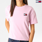 /achat-t-shirts/tommy-hilfiger-jeans-tee-shirt-femme-badge-6813-lila-191338.html