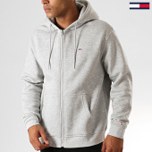 /achat-sweats-zippes-capuche/tommy-jeans-sweat-zippe-capuche-classics-7200-gris-chine-191497.html
