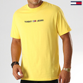 /achat-t-shirts/tommy-hilfiger-jeans-tee-shirt-small-logo-7231-jaune-191498.html