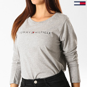 /achat-t-shirts-manches-longues/tommy-hilfiger-jeans-tee-shirt-manches-longues-femme-cn-logo-1910-gris-chine-191515.html