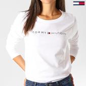 /achat-t-shirts-manches-longues/tommy-hilfiger-tee-shirt-manches-longues-femme-cn-logo-1910-blanc-191516.html