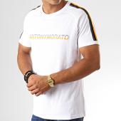 /achat-t-shirts/antony-morato-tee-shirt-a-bandes-abbigliamento-mmks01607-blanc-191678.html