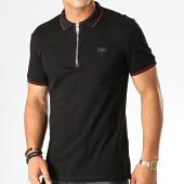 /achat-polos-manches-courtes/antony-morato-polo-zippe-manches-courtes-the-new-id-mmks01621-noir-rouge-191679.html