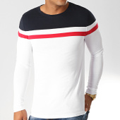 /achat-t-shirts-manches-longues/lbo-tee-shirt-manches-longues-tricolore-819-bleu-marine-rouge-blanc-191693.html