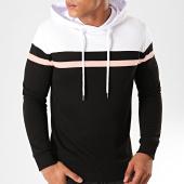 /achat-sweats-capuche/lbo-sweat-capuche-tricolore-814-blanc-rose-noir-191697.html