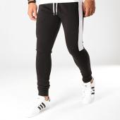 /achat-pantalons-joggings/lbo-pantalon-jogging-fit-829-noir-blanc-191713.html