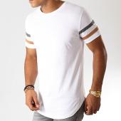 /achat-t-shirts-longs-oversize/lbo-tee-shirt-oversize-avec-bandes-anthracite-camel-905-blanc-191718.html