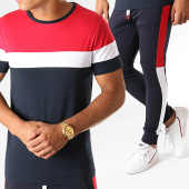 /achat-ensembles-survetement/lbo-ensemble-tee-shirt-et-pantalon-jogging-tricolore-825-bleu-marine-blanc-rouge-191725.html
