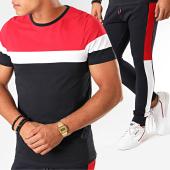 /achat-ensembles-survetement/lbo-ensemble-tee-shirt-et-pantalon-jogging-tricolore-825-bleu-marine-blanc-rouge-191725.html