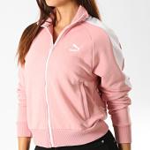 /achat-vestes/puma-veste-zippee-femme-a-bandes-classics-t7-595204-rose-blanc-191772.html