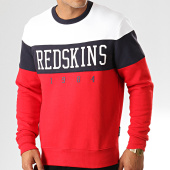 /achat-sweats-col-rond-crewneck/redskins-sweat-crewneck-fouga-skyline-blanc-rouge-bleu-marine-191743.html