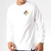 /achat-t-shirts-manches-longues/huf-tee-shirt-manches-longues-hazard-blanc-191849.html