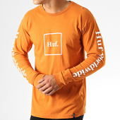 /achat-t-shirts-manches-longues/huf-tee-shirt-manches-longues-domestic-ocre-orange-blanc-191863.html