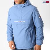 /achat-vestes/tommy-jeans-veste-outdoor-padded-popover-7121-bleu-clair-191819.html